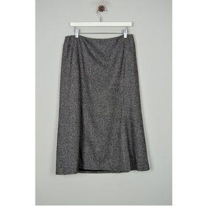 Ann Taylor Loft Womens Skirt Wool Silk Gray Modest